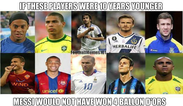 Nếu họ trẻ lại 10 tuổi, liệu Messi có thể giành 4 QBV liên tiếp?