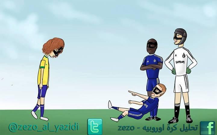 David Luiz đã gia nhập đội mặt nạ tại sân Stamford Bridge