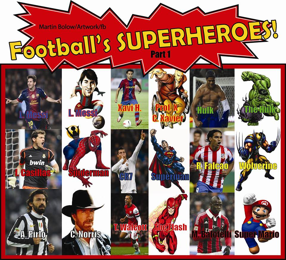 Sao bóng đá và các nhân vật hoạt hình