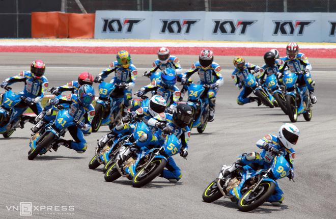 Anh Dũng cải thiện vị trí tại giải môtô châu Á
