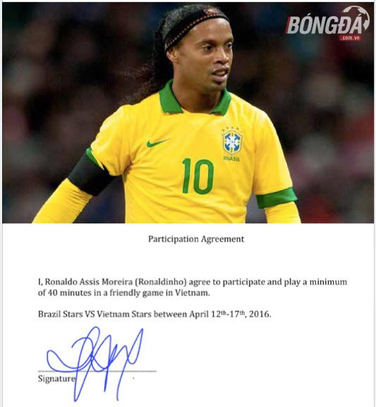Ronaldinho CHÍNH THỨC nhận lời đá giao hữu với đội tuyển Việt Nam
