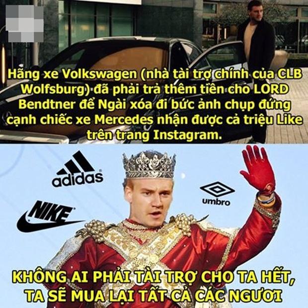 """Ảnh chế: LORD Bendtner ban phước cho hãng xe ô tô; Messi sợ """"khiếp vía"""" khi đối mặt với Cech"""