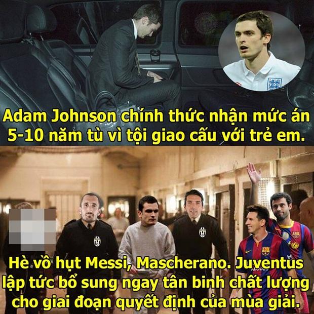 """Ảnh chế: Idol Bendtner """"lừa tình"""" fan nữ M.U Việt Nam; Hãy """"hứng tình"""" vừa phải như Van Gaal"""