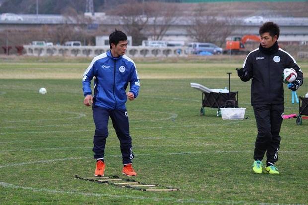 Công Phượng hớn hở trong lần đầu tập luyện cùng Mito Hollyhock