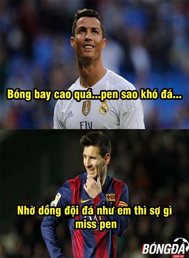 Ảnh chế: Messi bất ngờ chỉ dạy Ronaldo đá pen; Cứu thánh Gàn, Rashford được ban ơn