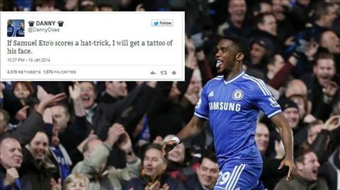 """Eto'o lập hat-trick, CĐV Chelsea phải  """"trả giá đắt"""""""