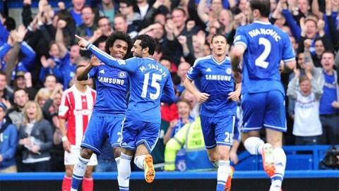 Bóng đá - Chelsea 3-0 Stoke: Kép phụ Salah tỏa sáng
