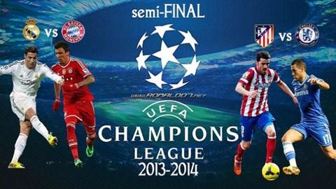 Bóng đá - Điểm tin sáng 12/4: bán kết Champions League, Real đụng Bayern, Atletico chạm Chelsea