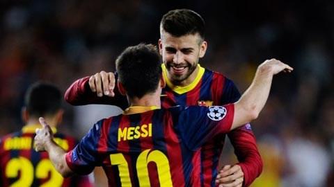 Pique và Messi vẫn thi đấu cho Barca nhưng không lên tuyển