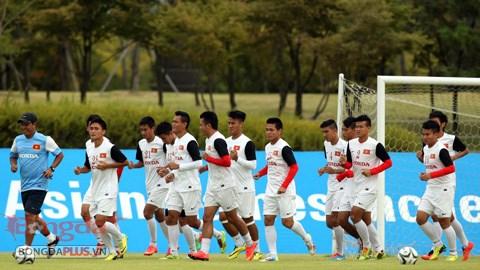 Bóng đá - Olympic Việt Nam hăng hái tập luyện trước trận gặp Kyrgyzstan