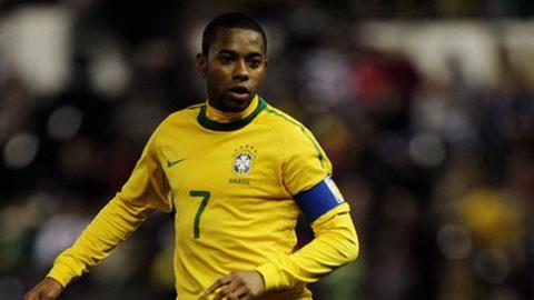Robinho được gọi trở lại ĐT Brazil