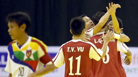 Bóng đá - ĐT Việt Nam đè bẹp Myanmar ở giải futsal ĐNÁ