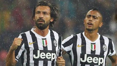 Vidal và Pirlo trở lại: Lão bà tự tin đến San Siro