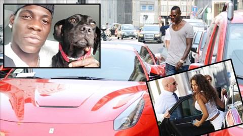 Balotelli mê chó như… mê xe