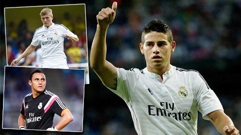 Đánh giá 3 tân binh Real sau 3 tháng: James Rodriguez nổi bật nhất!