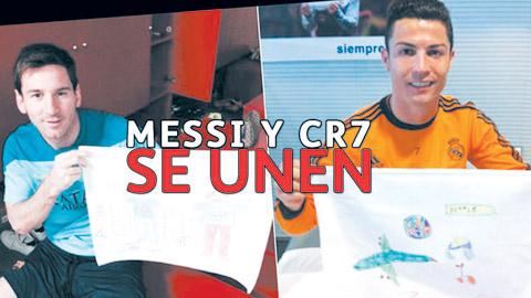 Ronaldo và Messi vẽ tranh làm từ thiện