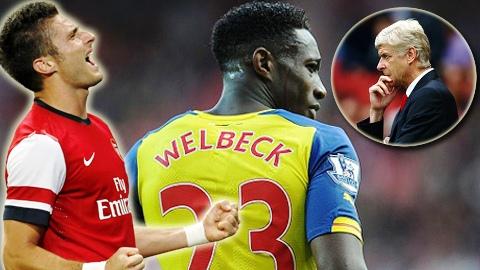Gioud trở lại sẽ đẩy Welbeck lên ghế dự bị?
