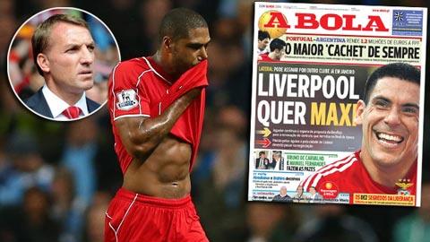 Bóng đá - Liverpool tính chiêu mộ sao Benfica thế chỗ Glen Johnson