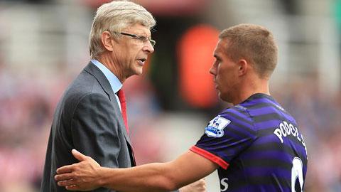 Podolski đòi được HLV Wenger đối xử công bằng