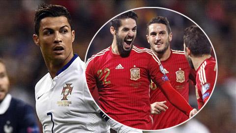 BXH FIFA tháng 11/2014: Tây Ban Nha và Bồ Đào Nha góp mặt ở Top 10