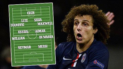 Bóng đá - Đội hình tiêu biểu của David Luiz: Không Terry vì có… Luiz
