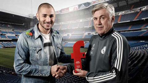 Benzema giành giải cầu thủ Pháp xuất sắc nhất năm của France Football