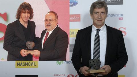 AS tôn vinh Puyol và Pellegrini
