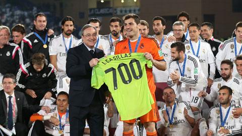 Iker Casillas cán mốc 700 trận cho Real: Sự trở lại hoàn hảo!