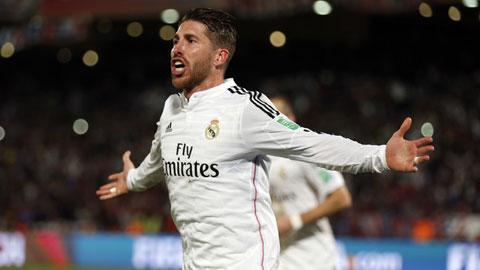 Ramos là cây săn bàn thứ 4 của Real Madrid trong năm 2014