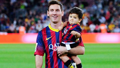 """Messi đón """"Dê con"""" trong năm nay"""