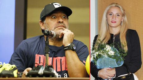 """Maradona sôi máu vì bồ trẻ """"cắm sừng"""""""