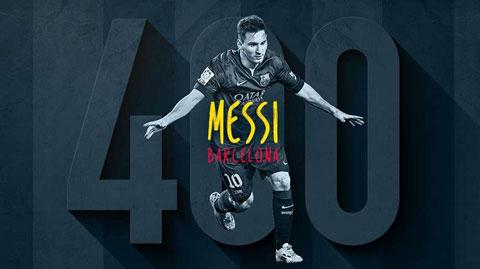 Messi thiết lập mốc 400 bàn trong màu áo Barca
