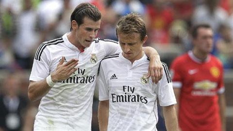 Real đau đầu với chấn thương liên tiếp của Bale và Modric