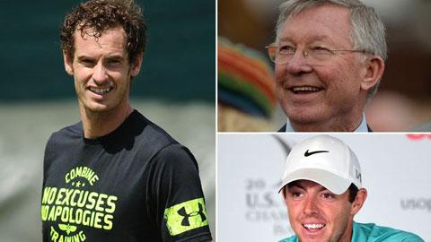 """Andy Murray được Sir Alex và Mcllroy làm """"quân sư"""""""