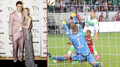 Người hùng Bendtner thăng hoa nhờ tình yêu