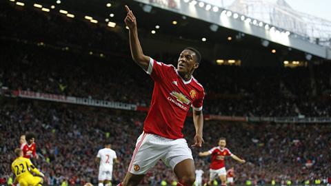 Martial solo ghi bàn dập tắt hy vọng của Liverpool, M.U trở lại ngôi nhì bảng