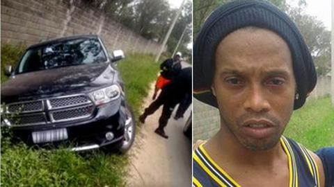Bóng đá - Ronaldinho gặp tai nạn xe hơi