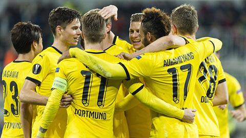 Aubameyang ghi bàn thứ 14/12 trận, Dortmund vùi dập Qabala