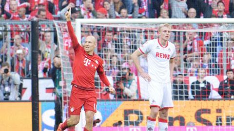 Bóng đá - Trở lại sau chấn thương, Robben ngay lập tức ghi bàn cho Bayern