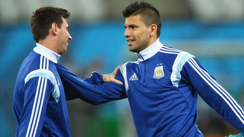 Bóng đá - Messi, Aguero lỡ 2 trận đấu tới của Argentina