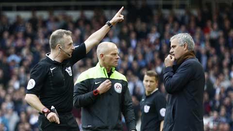 Bóng đá - Mourinho có thể bị phạt cấm chỉ đạo 5 trận