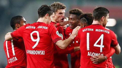 Bóng đá - Vòng 2 cúp QG Đức: Bayern biến Wolfsburg thành cựu vương