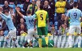 """Chùm ảnh Man City 7-0 Norwich: Chim Hoàng yến """"gãy cánh"""" tại Etihad"""