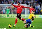Hình ảnh Ramsey không ăn mừng cú đúp vào lưới Cardiff