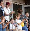 Chùm ảnh: Beckham bật khóc khi xem đội bóng cũ thi đấu