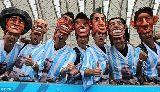 Chùm ảnh: Chùm ảnh: Messi tỏa sáng giúp Argentina toàn thắng vòng bảng