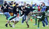 Chùm ảnh: Chùm ảnh: Bạo lực đe dọa trận giao hữu giữa Maccabi Haifa và Lille