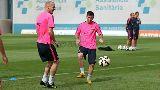 Chùm ảnh: Chùm ảnh: Barcelona tích cực tập luyện cho mặt trận La Liga