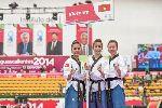 Chùm ảnh: Những đường quyền đẹp mắt giúp taekwondo Việt Nam giành HCV thế giới