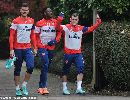 Dàn sao Arsenal hào hứng tập luyện chờ đón M.U